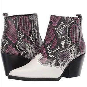 Sam Edelman Women's Shoes Berry Snake Print SIZE 8